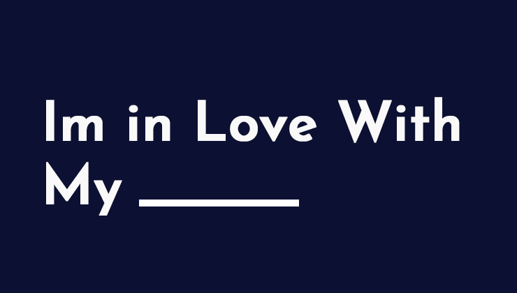 Image for I'm in Love with My _____