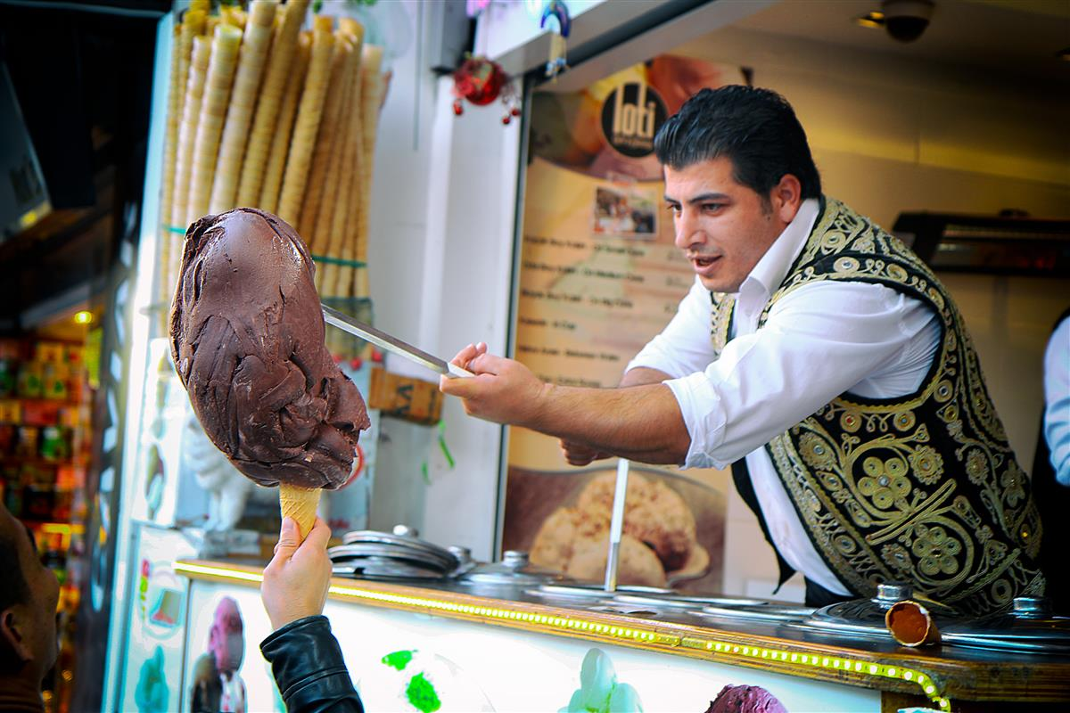 Image for Have you had the stretchy ice cream sold my a Turkish seller before?