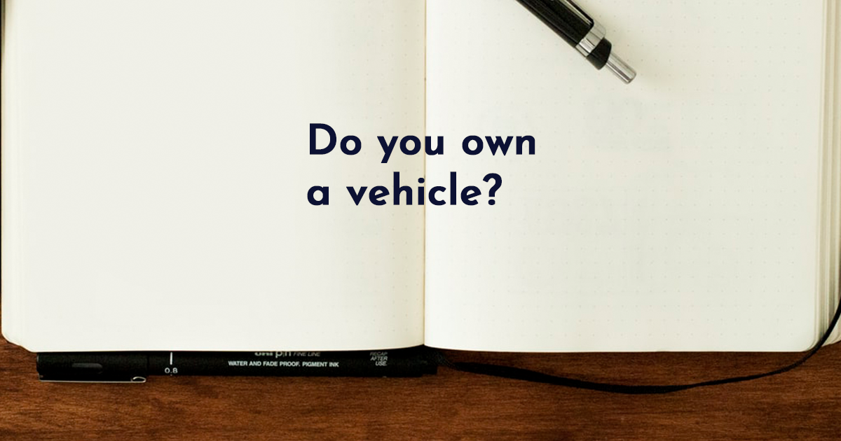 Image for Do you own a vehicle