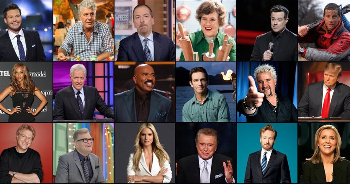 Can you find these TV personalities when provided only with their first names?